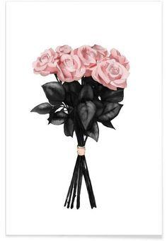 Pink Bouqet als Premium poster door Peytil | JUNIQE