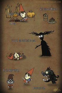 Wet Goop and Molasses by NorthWing on deviantART (AMAZING Over the Garden Wall / Don't Starve crossover)