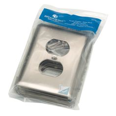 Style Selections Stamped Round 6-Pack 1-Gang Satin Nickel Standard Duplex Receptacle Stainless Steel Wall Plates