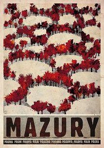autumn poster Masuria - Autumn, Polish Poster by Ryszard Kaja Graphic Design Posters, Graphic Design Branding, Corporate Design, Brochure Design, Art Deco Posters, Poster Prints, Polish Movie Posters, Polish Folk Art, Japanese Graphic Design