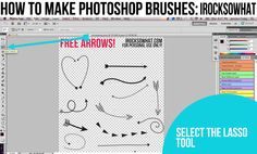 IROCKSOWHAT: FREE PHOTOSHOP ARROWS and a TUTORIAL on how to use them! (I wish I had Photoshop... and then knew how to use it! GO JESS!!!)