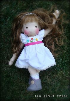 """Piper, 16"""" natural fiber doll by Mon Petit Frere"""