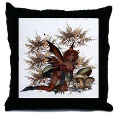 Garden Fairies - Elf Series 2 Throw Pillow