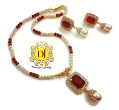 Ruby AD pendent set