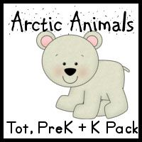 Arctic Animals free tot, pre-K and K pack