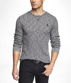 Express MARLED SMALL LION WAFFLE TEE on Wantering | $22 | sale price | Boxing Week for Him | mens style | mens fashion | wantering http://www.wantering.com/mens-clothing-item/marled-small-lion-waffle-tee/aguuy/