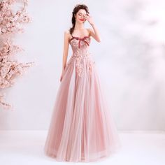 In Stock:Ship in 48 Hours Pink Tulle Sweetheart Long Prom Dress Pink Prom Dresses, Prom Dresses For Sale, Prom Dresses Online, Homecoming Dresses, Pretty Dresses, Clearance Prom Dresses, Dress Silhouette, Trends, Birthday Dresses