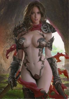 "alienspaceshipcentral: ""A fantasy warrior woman for no reason what so ever, Enjoy! Fantasy Girl, Fantasy Anime, Chica Fantasy, 3d Fantasy, Fantasy Kunst, Fantasy Warrior, Fantasy Women, Dark Warrior, Art Manga"