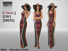Rokisrokis' (RR) Tribal Cry Dress | Sims 4 Updates -♦- Sims Finds & Sims Must Haves -♦- Free Sims Downloads