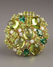 O5024 Roberto Coin Fireworks Ring, Green