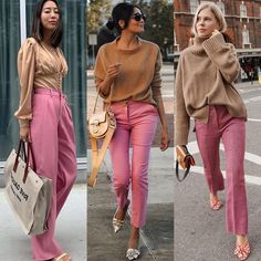 Beautiful Winter Outfits Standout for Current Fashion Trends Office Outfits Women Casual, Classy Outfits, Stylish Outfits, Winter Outfits, Pink Pants Outfit, Pink Outfits, Mode Lookbook, Look Fashion, Fashion Outfits