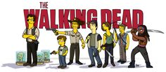 """""""The Walking Dead"""" - Simpsonized ... by Belgian illustrator Adrien Noterdaem, creator & operator of the """"Simpsonized"""" ( http://drawthesimpsons.tumblr.com/ ) 