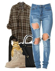 """""""12/30/15"""" by clickk-mee ❤ liked on Polyvore featuring Michael Kors, Versus and Timberland"""