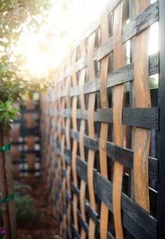 Repurposed Pallet Fence