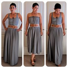 DIY: maxi skirt that can also be worn as a dress