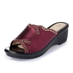 Slip On Wedge Sandals Casual Outdoor Beach Soft Sloe Slipper  Worldwide delivery. Original best quality product for 70% of it's real price. Hurry up, buying it is extra profitable, because we have good production sources. 1 day products dispatch from warehouse. Fast & reliable shipment...