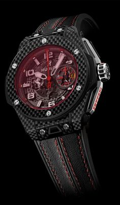 Hublot & Ferrari, Red Carbon  and Carbon Gold King