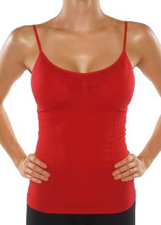 a83c52f7977b62 KVKSEA Women s Camisole Padded Built-in Bra Cami. Form-fitting