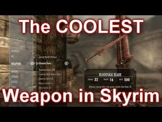 THE COOLEST WEAPON IN SKYRIM (DRAGONBORN) - YouTube