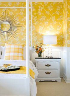Cozy Cottage-Style Bedrooms | Yellow cottage, Bedrooms and Bedroom ...