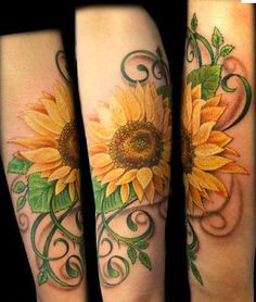 I think I want a sunflower on my shoulder to tie in with my blue butterfly.