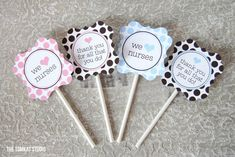 Great printable cupcake toppers to thank nurses and medical staff who took care of  your child in the NICU.