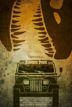 Alternative movie poster for Jurassic Park by Ed Burczyk