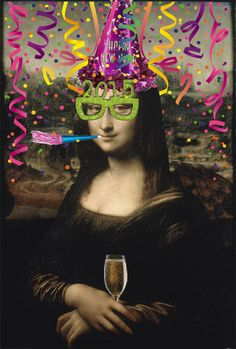 Image result for mona lisa happy birthday