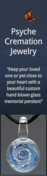 Keep your pet close to your heart with a beautiful custom hand blown glass memorial pendant. #petloss
