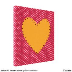 Beautiful Heart Canvas Stretched Canvas Prints