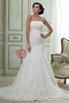 Fantastique Sans Manche cathédrale robe de mariage de train Trompette / Sirène (Livraison gratuite)