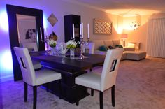 Dinning and living room! Mirrors on dinning room is from #IKEA, living room #HOMEGOODS