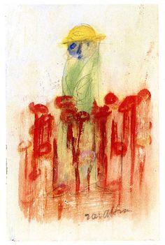 1950.11.33 Cesare Zavattini, Prete e fiori rossi