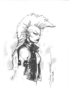 Olivier Coipel - Mohawk Storm, in Robert Blake's Book of Storm Comic Art Gallery Room Comic Book Artists, Comic Book Characters, Comic Artist, Marvel Characters, Comic Character, Comic Books Art, Character Design, Marvel Comics, Marvel Art