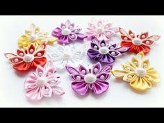Бабочка Канзаши Мастер-класс / Butterfly Kanzashi Tutorial, DIY - YouTube