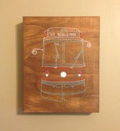 For the home: Toronto Streetcar Wood Hand-Embroidery by VonEsteban More at: http://www.oneofakindshow.com/toronto/artisans.php?id=527207&c=&d=