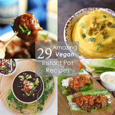 24 Quick And Easy Vegan Instant Pot Recipes Lentil Recipes, Veggie Recipes, Vegetarian Recipes, Vegan Meals, Vegan Dishes, Vegan Food, Soup Recipes, Recipies, Instant Pot Pressure Cooker
