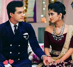 this couple is just a lovely couple.i want someone like kartik coz I'm like naira(ziddi). Wedding Looks, Wedding Wear, Bridal Looks, Indian Dresses, Indian Outfits, Kartik And Naira, Lovely Girl Image, Cutest Couple Ever, Cool Outfits