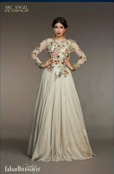 Fahad Hussayn Couture Pakistani Outfits, Indian Outfits, Pakistani Couture, Ethnic Fashion, Asian Fashion, Eastern Dresses, Fairy Dress, Anarkali Dress, Indian Attire
