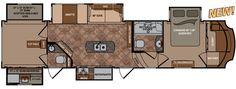 5th wheel 2 bathroom floor plans wildcat 323qb 2012 bunk - Dutchmen infinity front living room ...