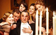 Lady Edith, Lord Grantham, Lady Mary, Mr. Carson, Lady Sybil & Mrs. Crawley