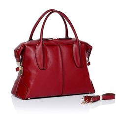 4you2wear Tod's D-bag rode leren damestas