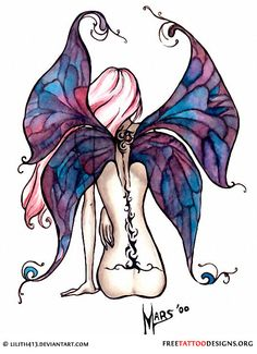 Fairy from the back! Love this idea. Dislike the tattoo on the fairy