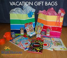 Vacation Gift Bags - Get Creative!