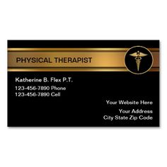 190 Best Physical Therapist Business Cards Images In 2019 Physical