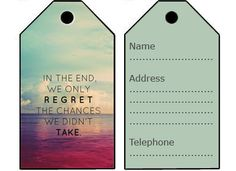 Cute Printable Luggage Tags Travel The World Pinterest - Travel name tag template