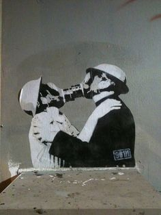 #kris banksy. Itd go with thr theme of your tree  but this would be more arm than chest