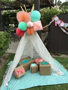 Such a fantastic boho chic baby shower party! See more party planning ideas at CatchMyParty.com!