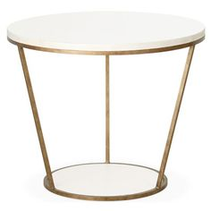 Blair Round Side Table- love these b/c you can make the table top turquoise or bubblegum or navy!