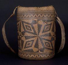 Ajat basket, Penan people. Borneo | 20th century | Hornbill motif